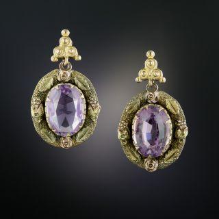 Victorian Light Purple Amethyst Earrings - 3