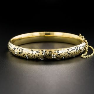 Victorian Locket Bangle Bracelet  - 5