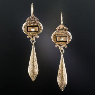 Victorian Long Drop Earrings  - 1
