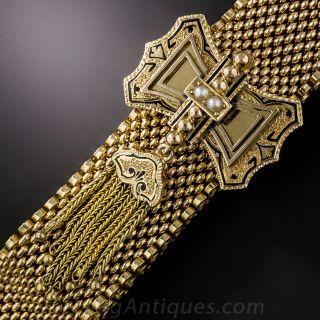 Victorian Mesh Double Tassel Bracelet