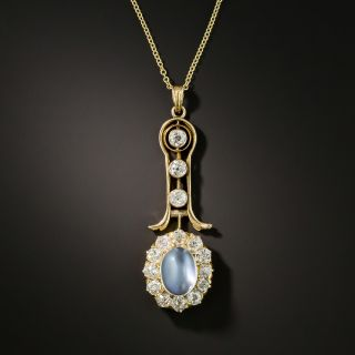 Victorian Moonstone and Diamond Necklace - 2
