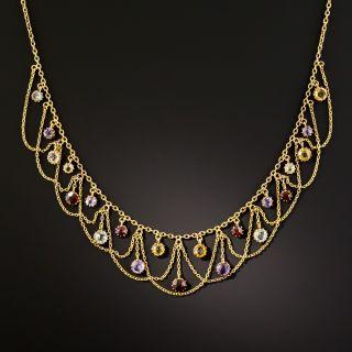 Victorian Multi-Gemstone Swag Necklace - 2