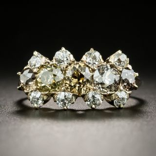 Victorian Natural Colored Diamond Ring - 2