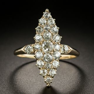 Victorian Navette Shaped Diamond Dinner Ring - 2