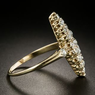 Victorian Navette Shaped Diamond Dinner Ring