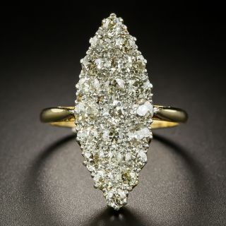 Victorian Navette Shaped Diamond Ring - 3