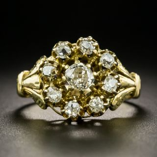 Victorian Old Mine Cut Diamond Cluster Ring - 2