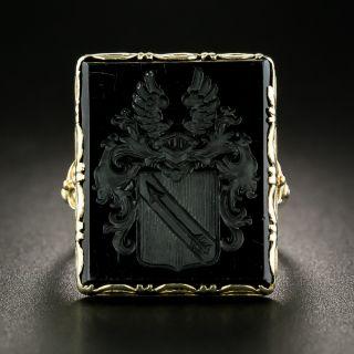 Victorian Onyx Intaglio Ring