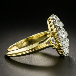 Circa 1900 Oval Diamond Cluster Ring