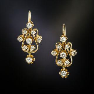 Victorian Revival Diamond Dangle Earrings - 3