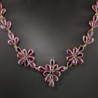 Victorian Rhodolite Garnet Necklace - 2