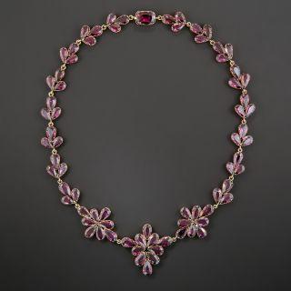 Victorian Rhodolite Garnet Necklace