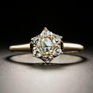 Victorian Rose Cut Diamond Cluster Ring - 3