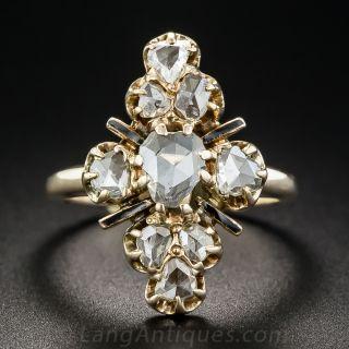 Victorian Rose-Cut Diamond Dinner Ring - 1