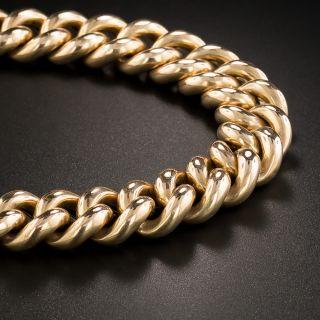 Victorian Rose Gold Curb Link Bracelet