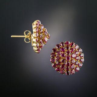 Victorian Ruby Cluster Earrings