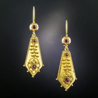 Victorian Ruby Earrings - 2