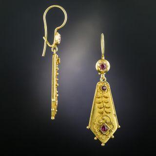 Victorian Ruby Earrings