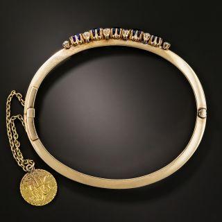 Victorian Sapphire and Diamond Bangle Bracelet