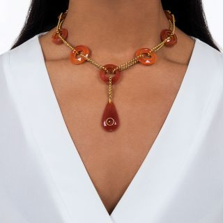 Victorian Scottish Carnelian Necklace