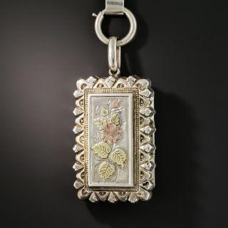 Victorian Silver Locket Necklace