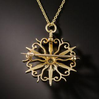 Victorian Starburst Diamond Pendant