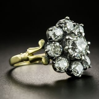 Victorian Style 1.13 Carat Diamond Cluster Ring