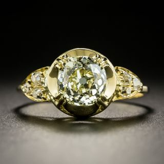 Victorian-Style 1.58 Carat Diamond Engagement Ring - GIA - 2