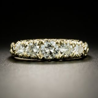 Victorian Style Five-Stone Diamond Band Ring - 3