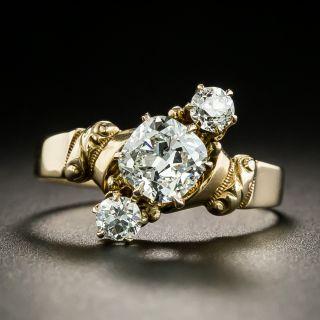 Victorian Three-Stone Diamond Engagement Ring - 2