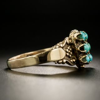 Victorian Turquoise and Seed Pearl Ring