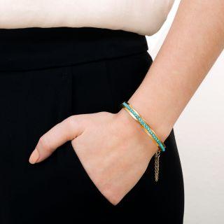 Victorian Turquoise Bangle Bracelet