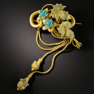 Victorian Turquoise Brooch  - 2