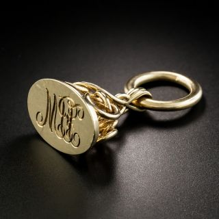 Victorian Yellow Gold Initial Fob