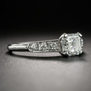 Vintage 1.02 Carat Asscher-Cut Diamond Platinum Engagement Ring - GIA G IF