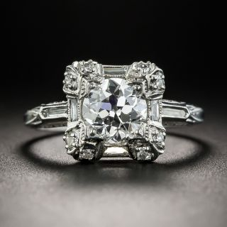 Vintage 1.19 Carat  Diamond Engagement Ring - GIA G VVS1 - 1