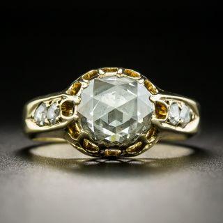Vintage 1.50 Carat Rose-Cut Diamond Ring - 1