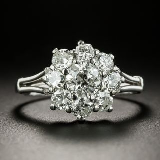 Vintage 1.50 Carat Total Weight Diamond Cluster Ring - 3