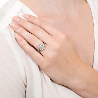 Vintage 1.50 Carat Total Weight Diamond Cluster Ring
