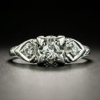 Vintage .18 Carat Diamond Engagement Ring - 1