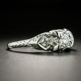 Mid-Century .18 Carat Diamond Engagement Ring