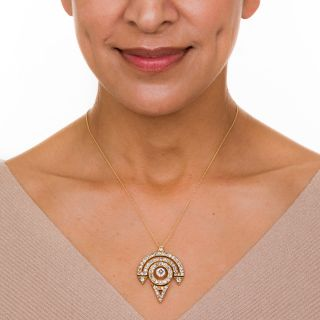 Vintage 18K Diamond Pendant Necklace