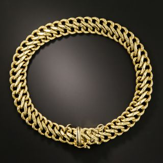 Vintage 18K Double Curb Link Bracelet - 2