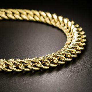 Vintage 18K Double Curb Link Bracelet