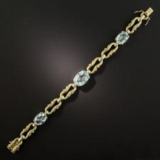 Vintage 1960s Aquamarine Bracelet - 3