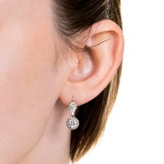 Vintage 2.13 Carat Diamond Drop Earrings - GIA