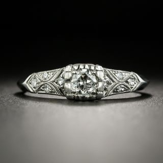 Vintage .20 Carat Diamond Engagement Ring - Palladium - 1