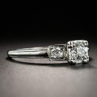 Vintage .38 Carat Diamond Platinum Engagement Ring