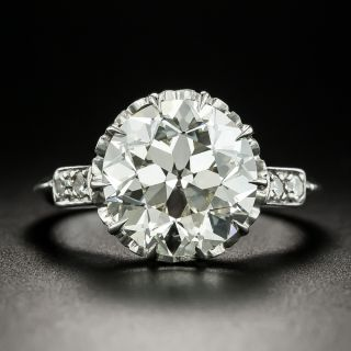 Vintage 4.44 Carat Solitaire Diamond Engagement Ring - GIA K VS1 - 2