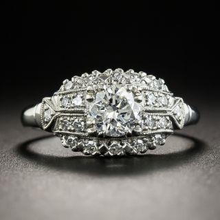 Vintage .55 Carat Diamond Platinum Engagement Ring